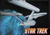 Star Trek - Enterprise On Blue Photo Magnet 2