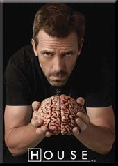 "House - Brain Photo Magnet 2 1/2"" x 3 1/2"""
