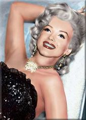 Marilyn Monroe - Laying On Couch Photo Magnet 2
