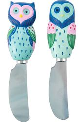 Artsy Owls - Set of Two Spreaders