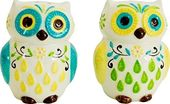 Floral Owl - Salt & Pepper Shaker Set