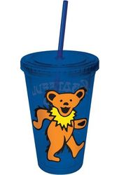 Grateful Dead - Dancing Bear Cup With Straw