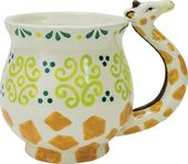 Giraffe - 16 oz. Earthenware Mug with Molded