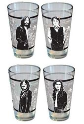 The Beatles - Collage: 4-Piece 16 oz. Pint Glass