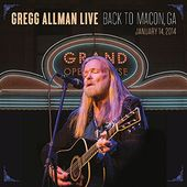 Gregg Allman Live: Back To Macon, GA (2LPs)