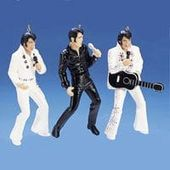Elvis Presley - Set Of Three Performing - Ornament