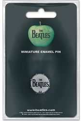 The Beatles - Mini Pin Badge - Drumhead Logo