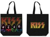 KISS - Faces & Logo - Black Cotton Zippered Tote
