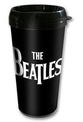 The Beatles - Drop T Logo: 16 oz. Plastic Travel