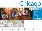 Chicago Popout Map: 5 Maps: North & South Chicago