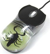 Glow in the Dark Black Scorpion - Computer Mouse