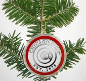 Baseball - Chicago Cubs - Silver Coin Ornament