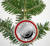 Baseball - New York Yankees - Silver Coin Ornament