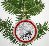 Baseball - Boston Red Sox - Silver Coin Ornament