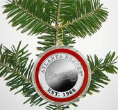 Baseball - Atlanta Braves - Silver Coin Ornament