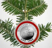 Baseball - Houston Astros - Silver Coin Ornament