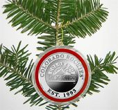 Baseball - Colorado Rockies - Silver Coin Ornament