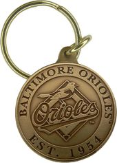 Baseball - Baltimore Orioles - Bronze Key Chain