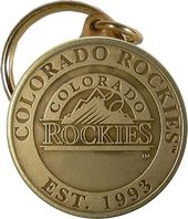Baseball - Colorado Rockies - Bronze Key Chain