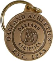 Baseball - Oakland Athletics - Bronze Key Chain
