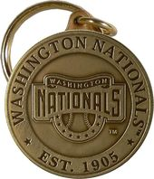 Baseball - Washington Nationals - Bronze Key Chain