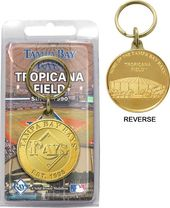 Baseball - Tampa Bay Rays - Bronze Key Chain