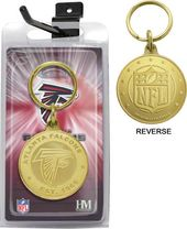 Football - Atlanta Falcons Bronze Bullion Keychain