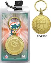 Football - Miami Dolphins Bronze Bullion Keychain