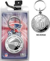 Football - New England Patriots Coin Keychain