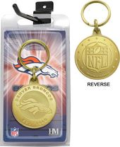 Football - Denver Broncos Bronze Bullion Keychain