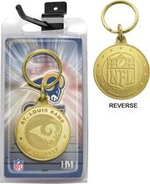 Football - St. Louis Rams Bronze Bullion Keychain