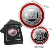Football - New York Giants Silver Coin Ornament