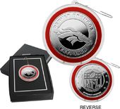 Football - Denver Broncos Silver Coin Ornament