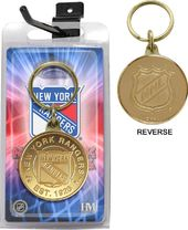 Hockey - New York Rangers Bronze Coin Keychain