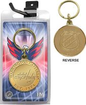 Hockey - Washington Capitals Bronze Coin Keychain