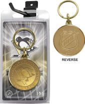 Hockey - Pittsburgh Penguins Bronze Coin Keychain
