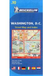 Michelin Map 10 Washington Dc