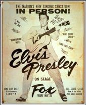 Elvis Presley - At The Fox - Tin Sign
