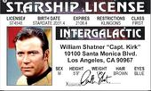 Star Trek - Captain Kirk - Driver License