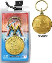 Baseball - Miami Marlins - Bronze Key Chain