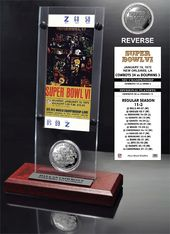 Football - Super Bowl 6 Ticket & Game Coin