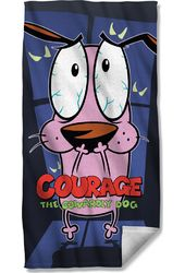 Courage The Cowardly Dog - Window Beach Towel