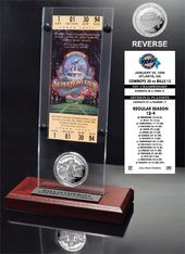 Football - Super Bowl 28 Ticket & Game Coin