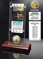 Football - Super Bowl 1 Ticket & Game Coin