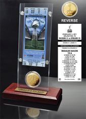 Football - Super Bowl 45 Ticket & Game Coin