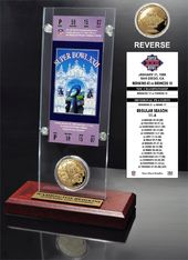 Football - Super Bowl 22 Ticket & Game Coin