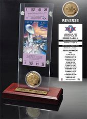 Football - Super Bowl 26 Ticket & Game Coin