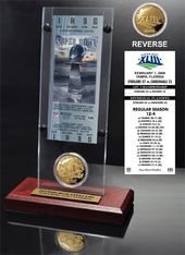 Football - Super Bowl 43 Ticket & Game Coin