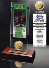 Football - Super Bowl 40 Ticket & Game Coin
