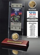 Football - Super Bowl 13 Ticket & Game Coin